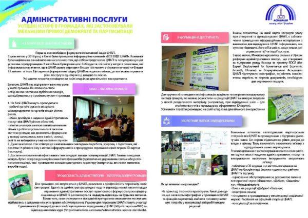 Брошура з успішними практиками комунікації та взаємодії ЦНАП з жителями громади від Асоціації малих міст України
